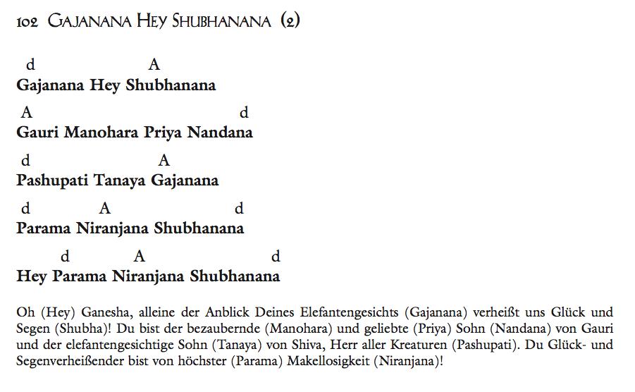 Gajanana Hey Shubhanana