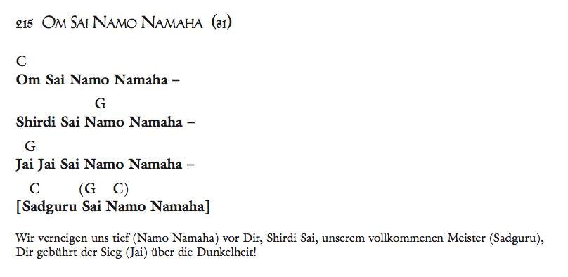 Om Sai Namo Namaha