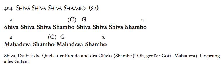Shiva Shiva Shiva Shambo
