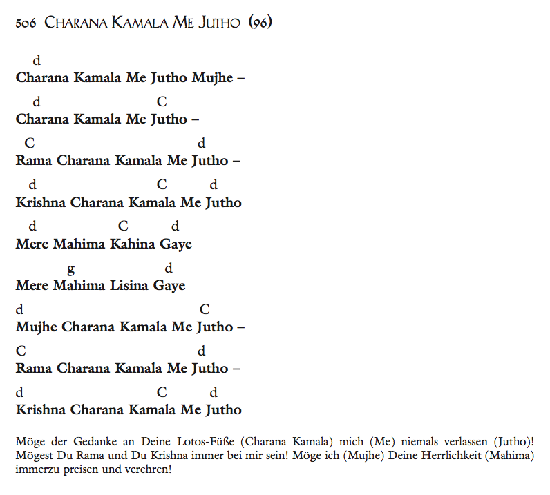 Charana Kamala Me Jutho